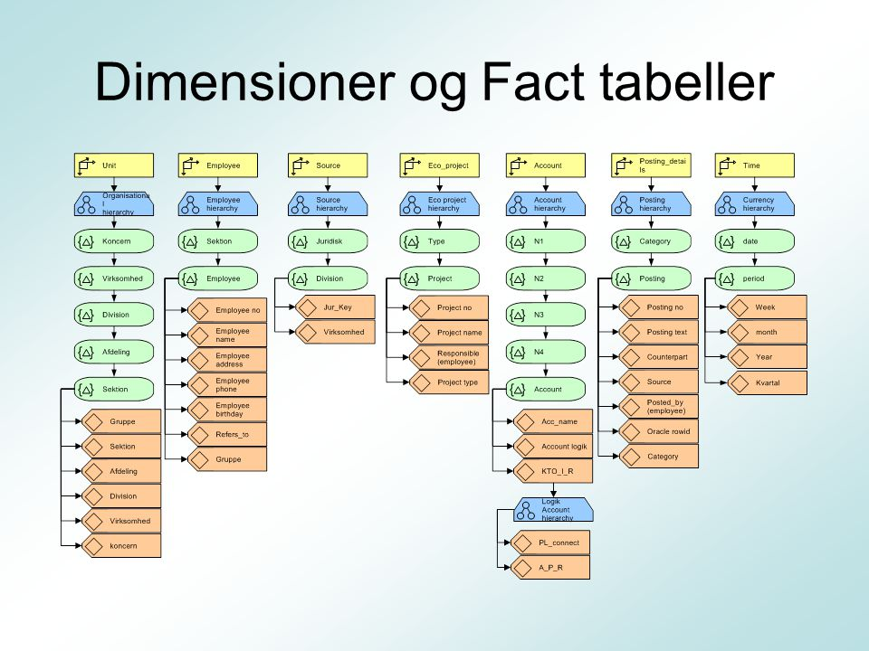 Dimensioner og Fact tabeller