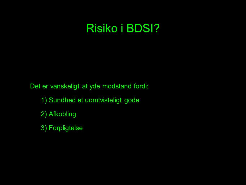 Risiko i BDSI.