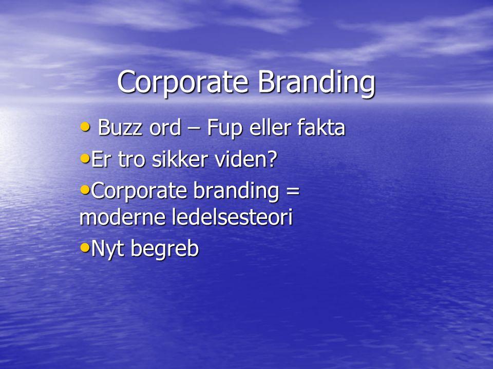 Corporate Branding Buzz ord – Fup eller fakta Buzz ord – Fup eller fakta Er tro sikker viden.