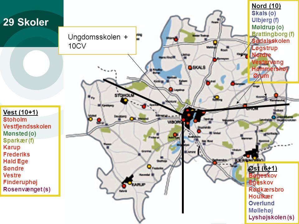 Ledelse af ledere side 3 29 Skoler Nord (10) Skals (o) Ulbjerg (f) Møldrup (o) Brattingborg (f) Sødalsskolen Løgstrup Nordre Vestervang Hammershøj Ørum Øst (6+1) Bøgeskov Egeskov Rødkærsbro Houlkær Overlund Møllehøj Lyshøjskolen (s) Vest (10+1) Stoholm Vestfjendsskolen Mønsted (o) Sparkær (f) Karup Frederiks Hald Ege Søndre Vestre Finderuphøj Rosenvænget (s) Ungdomsskolen + 10CV