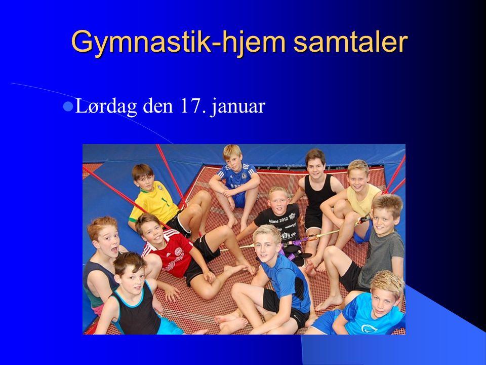 Gymnastik-hjem samtaler Lørdag den 17. januar