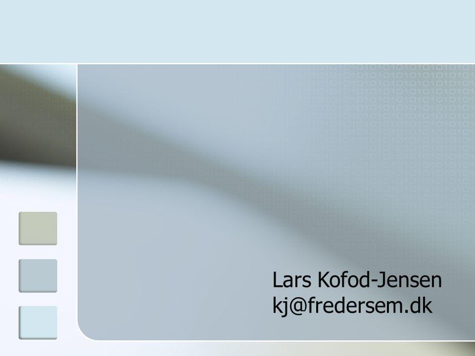 Lars Kofod-Jensen kj@fredersem.dk