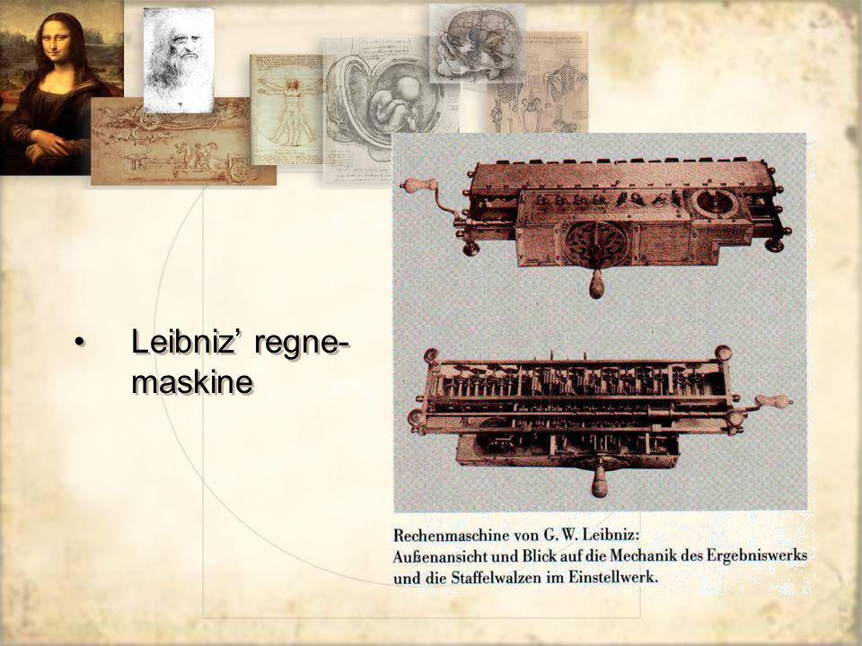 Leibniz' regne- maskine