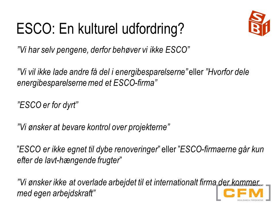 ESCO: En kulturel udfordring.