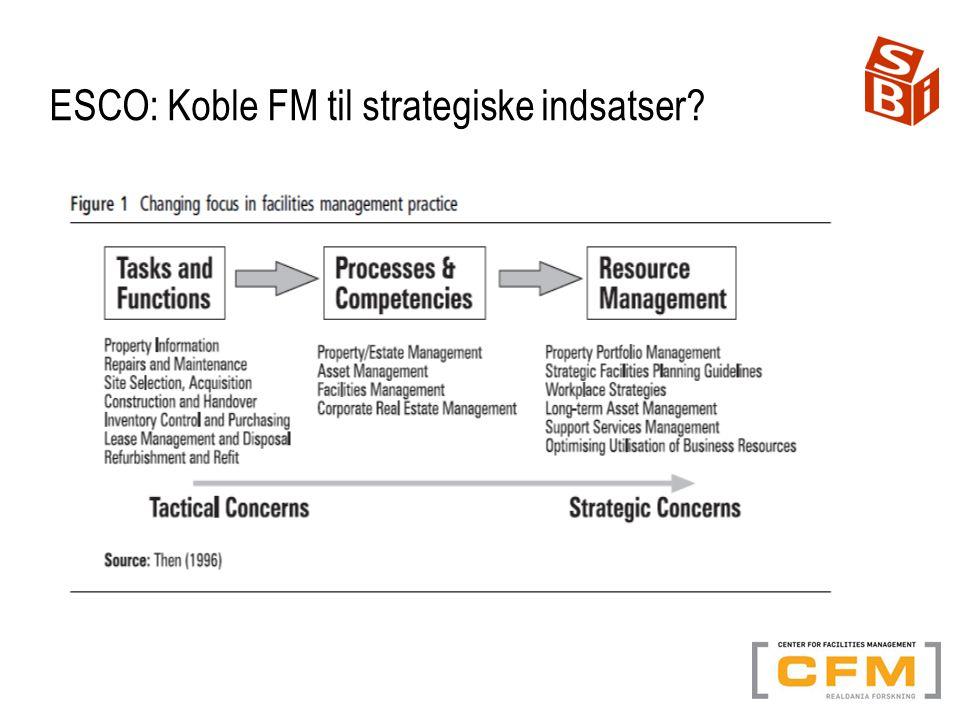 ESCO: Koble FM til strategiske indsatser
