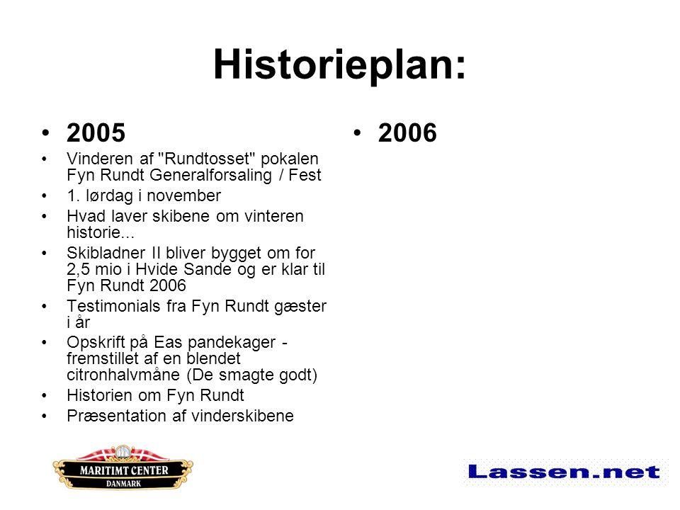 Historieplan: 2005 Vinderen af Rundtosset pokalen Fyn Rundt Generalforsaling / Fest 1.