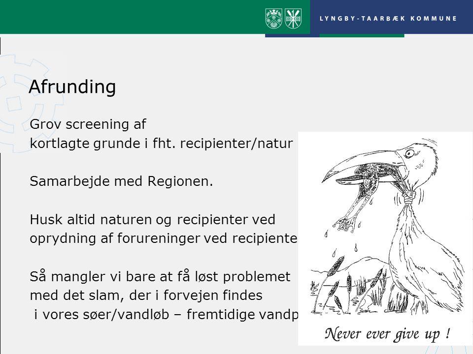 Afrunding Grov screening af kortlagte grunde i fht.
