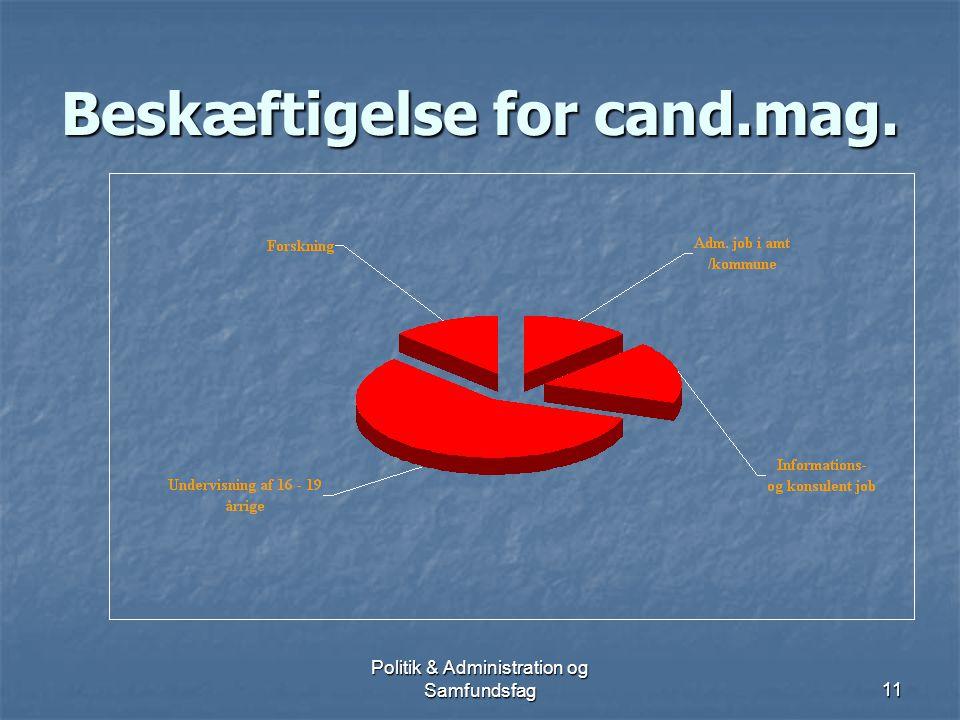 Politik & Administration og Samfundsfag10 Hvad betyder uddannelsens opbygning.