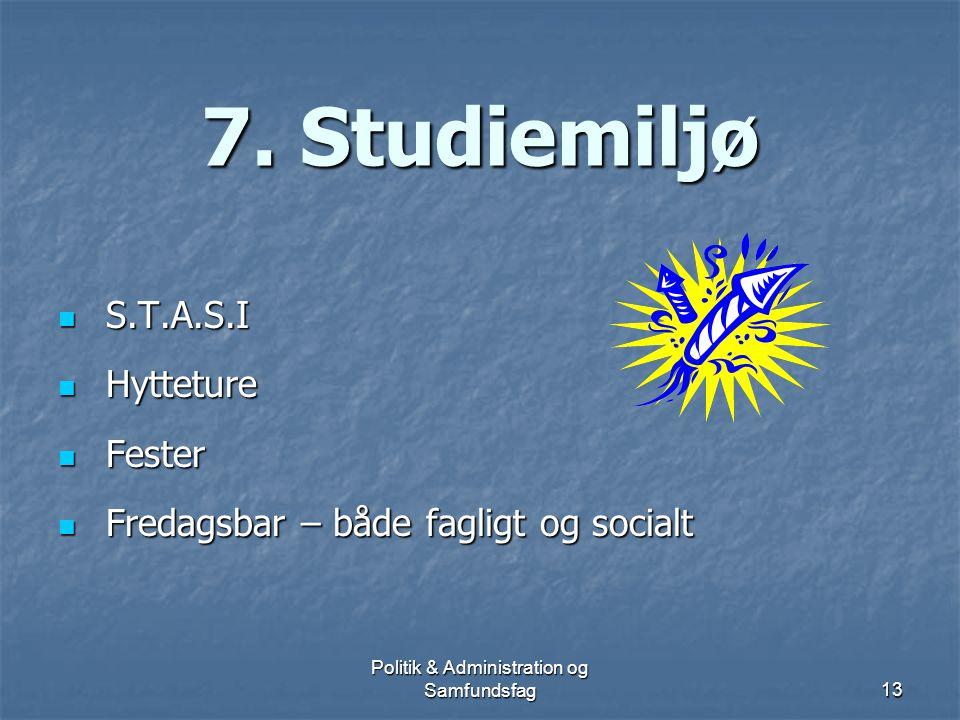 Politik & Administration og Samfundsfag12 Beskæftigelse for cand.scient.adm.