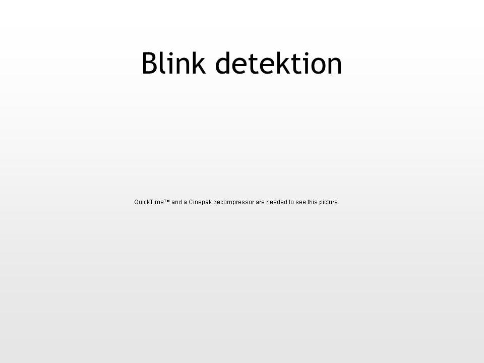 Blink detektion