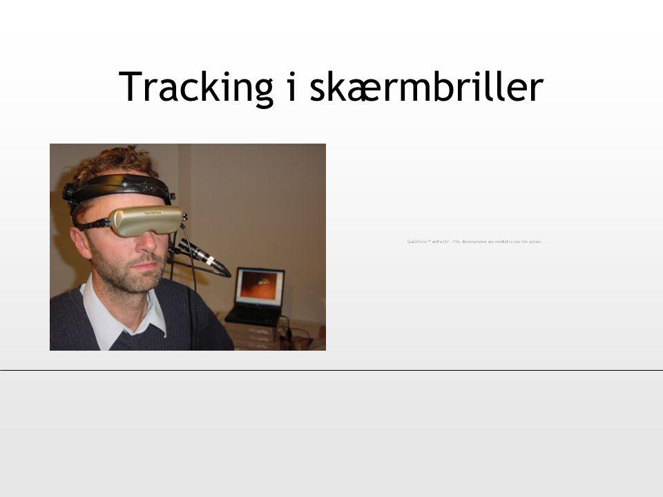 Tracking i skærmbriller