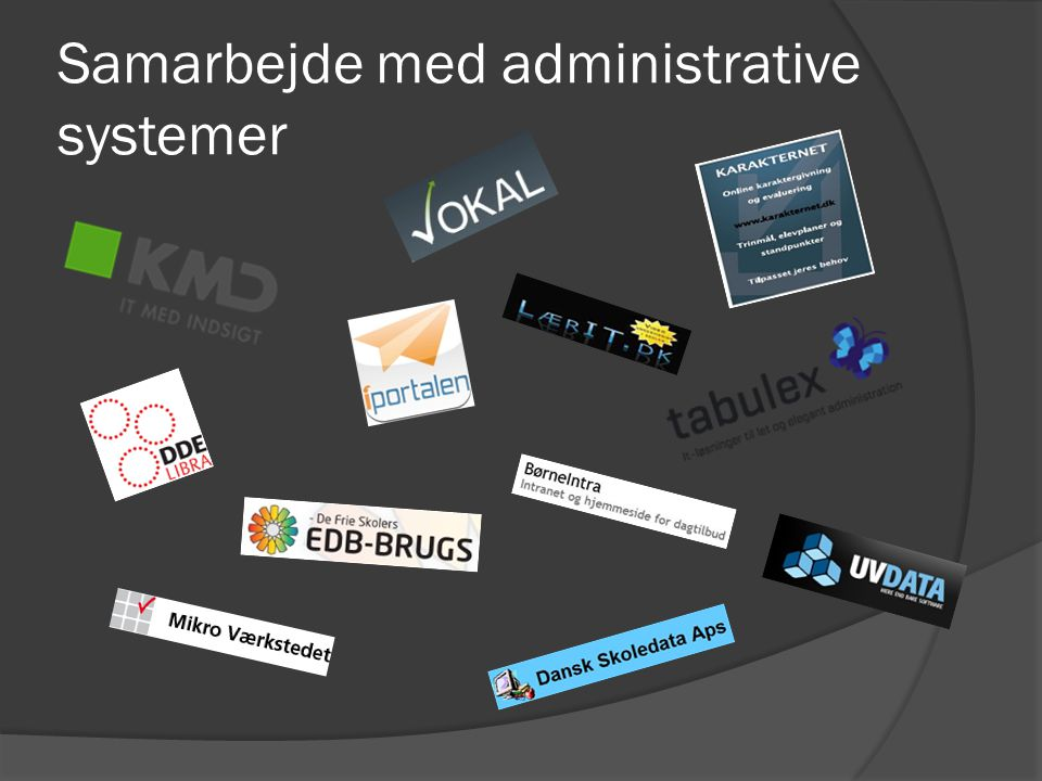 Samarbejde med administrative systemer
