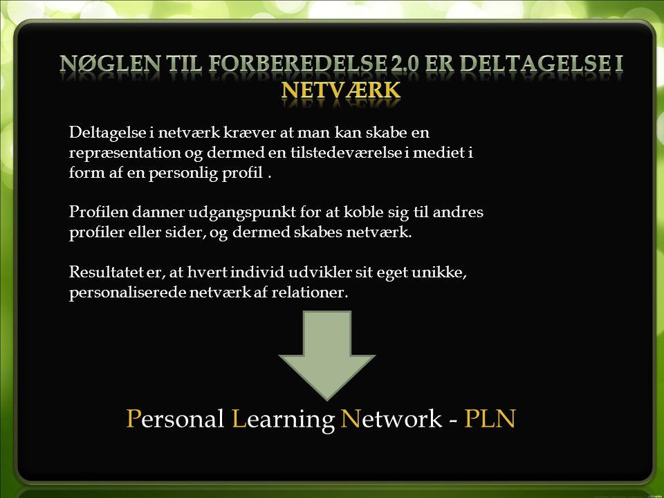 Deltagelse i netværk kræver at man kan skabe en repræsentation og dermed en tilstedeværelse i mediet i form af en personlig profil.