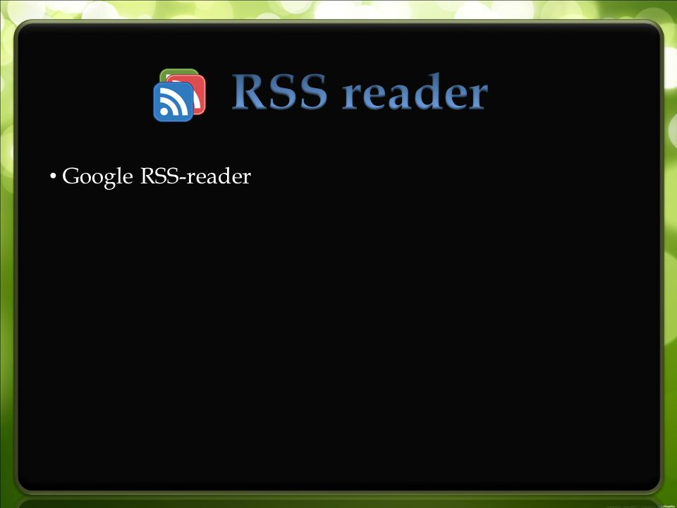 Google RSS-reader
