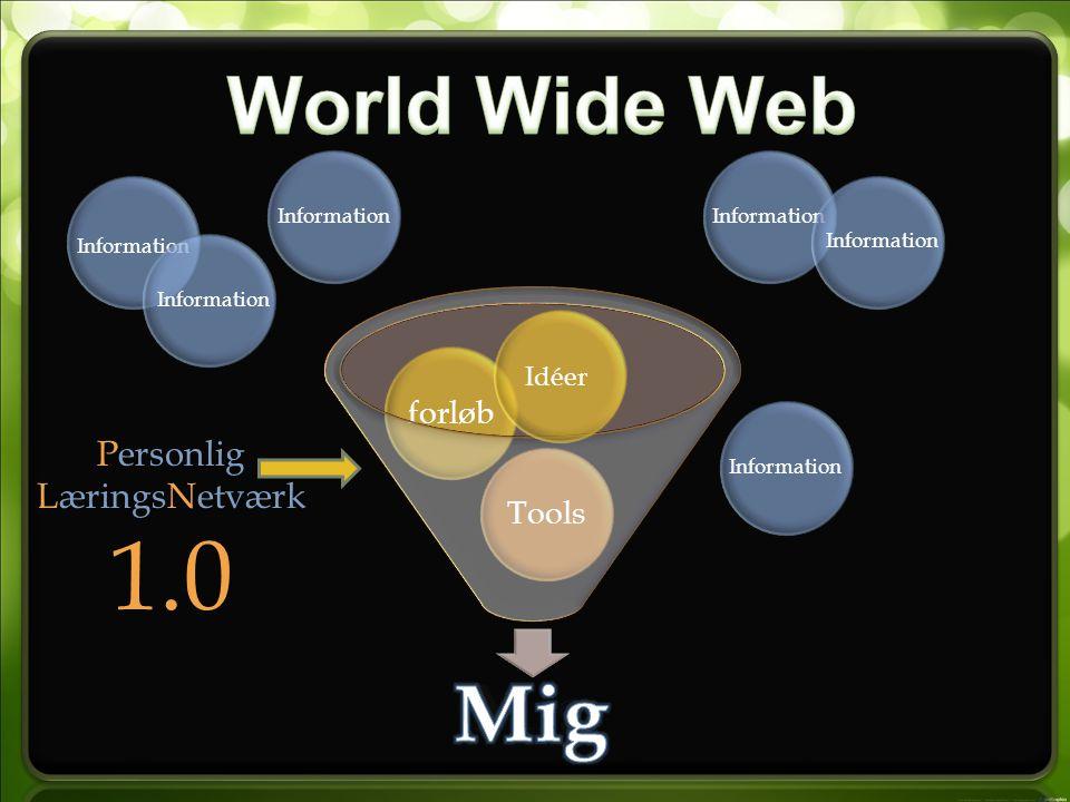 Mig Toolsforløb Personlig LæringsNetværk 1.0 Idéer Information