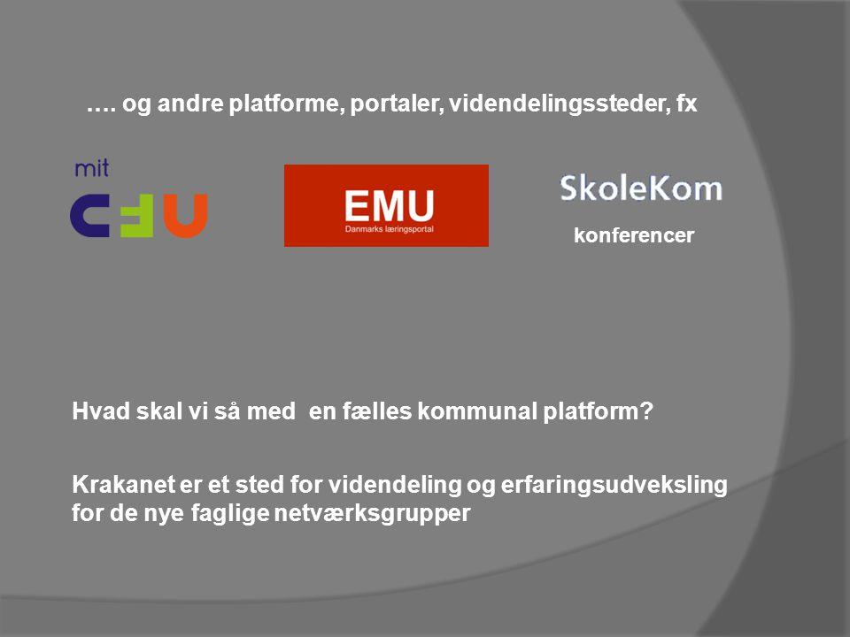 Hvad skal vi så med en fælles kommunal platform. konferencer ….