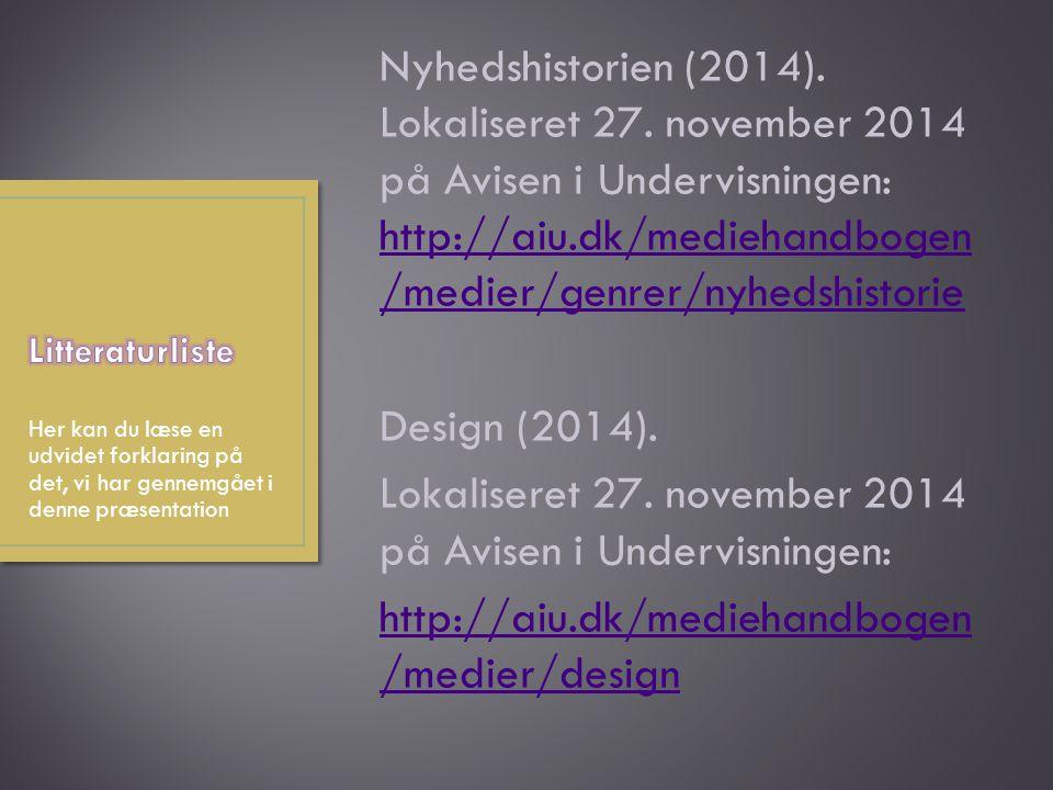 Nyhedshistorien (2014).Lokaliseret 27.