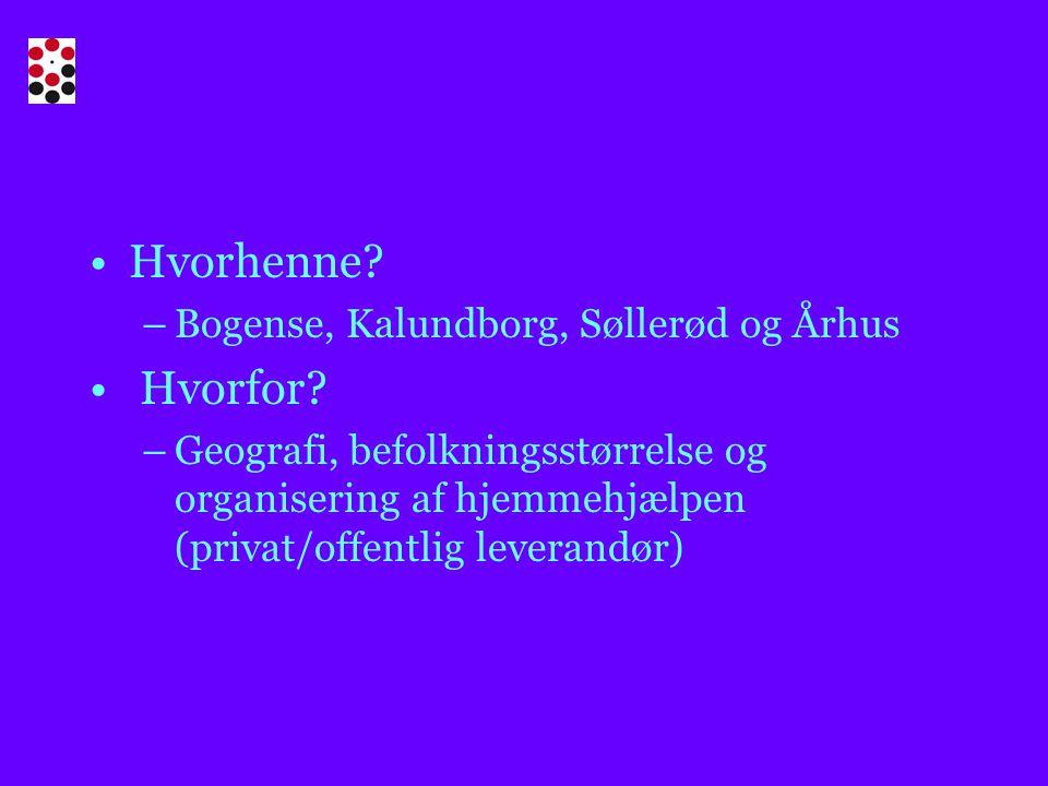 Hvorhenne. –Bogense, Kalundborg, Søllerød og Århus Hvorfor.