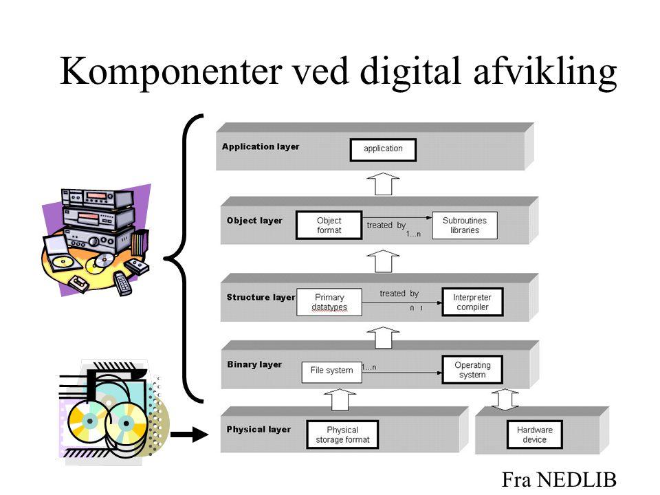 Komponenter ved digital afvikling Fra NEDLIB