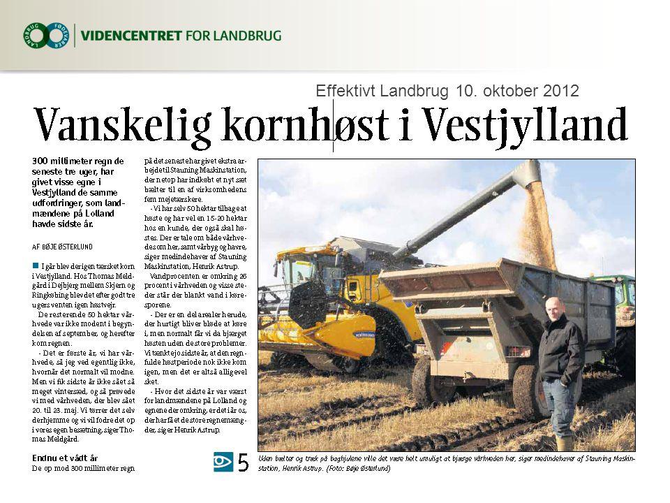 Effektivt Landbrug 10. oktober 2012