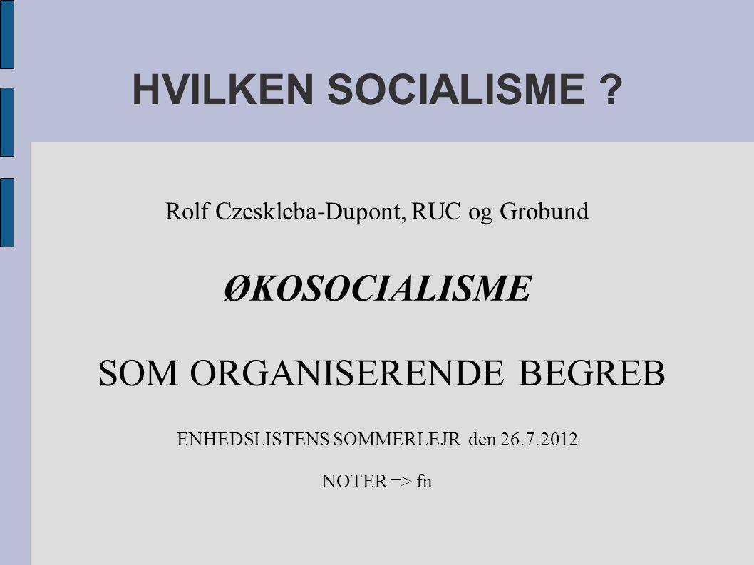 HVILKEN SOCIALISME .