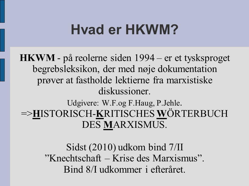 Hvad er HKWM.