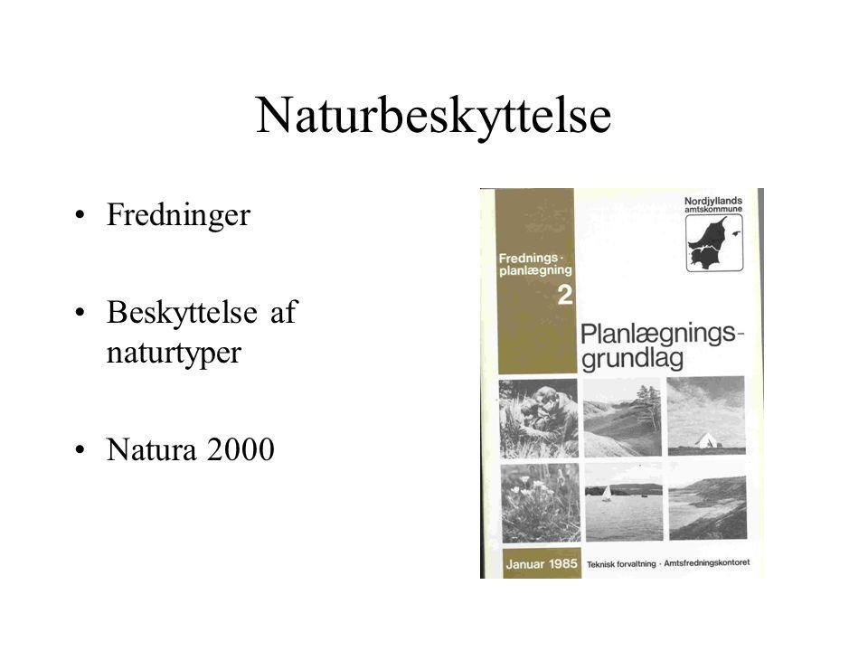 Naturbeskyttelse Fredninger Beskyttelse af naturtyper Natura 2000