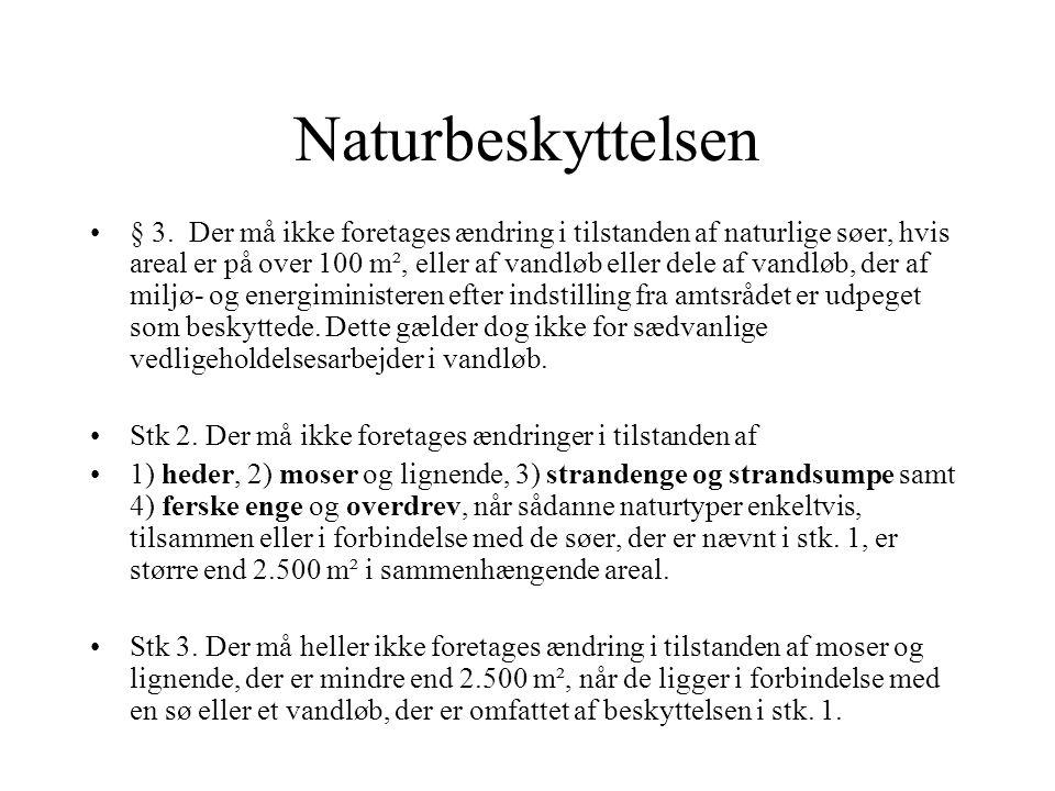 Naturbeskyttelsen § 3.