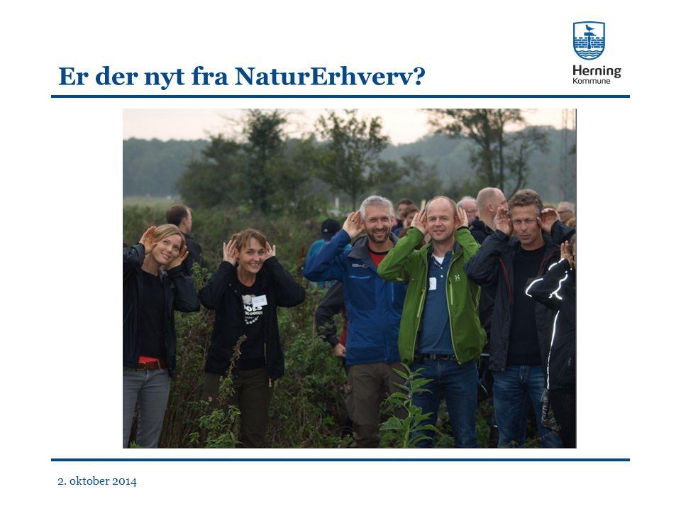 Er der nyt fra NaturErhverv 2. oktober 2014