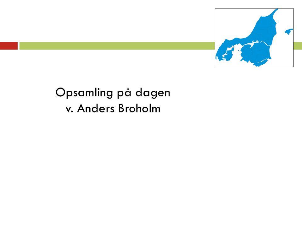Opsamling på dagen v. Anders Broholm