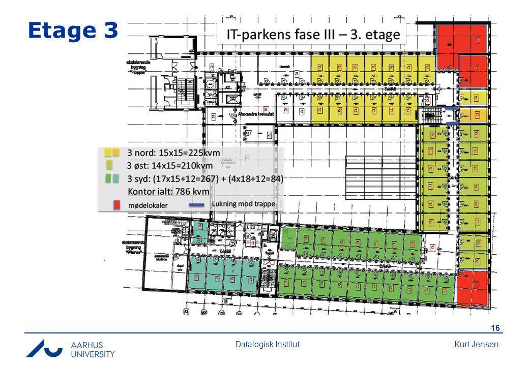 Kurt Jensen 16 Datalogisk Institut Etage 3