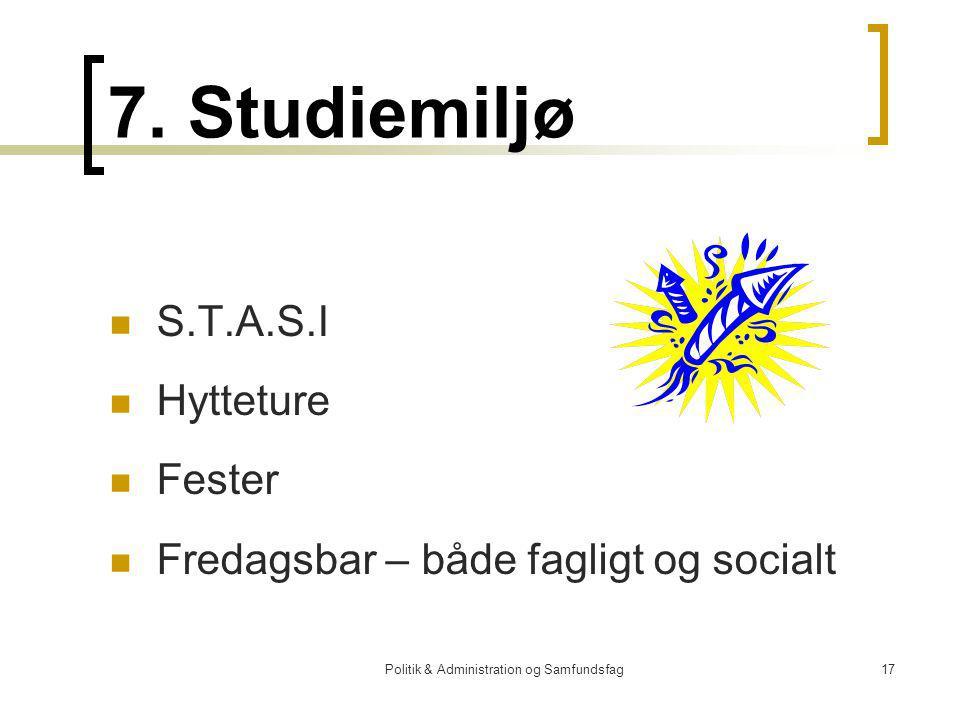 Politik & Administration og Samfundsfag17 7.