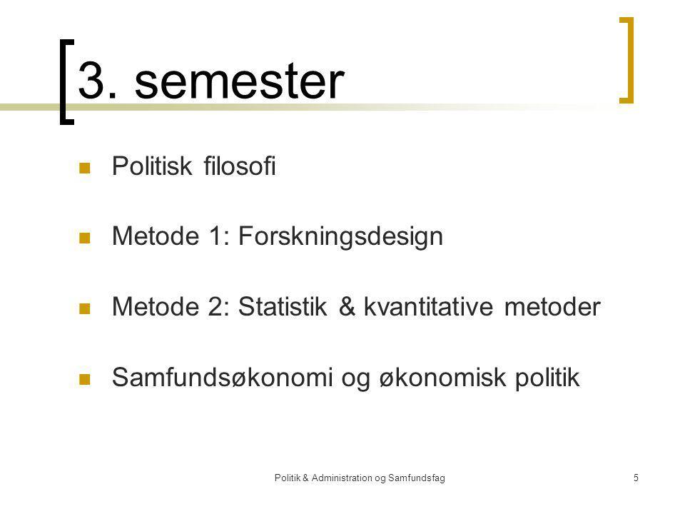 Politik & Administration og Samfundsfag5 3.