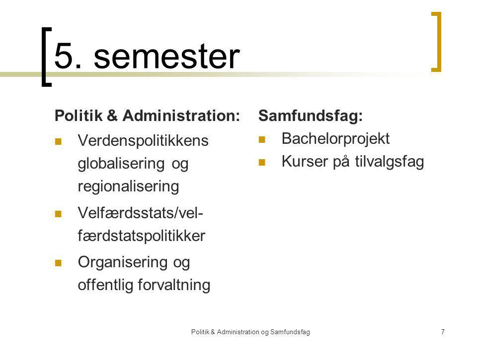 Politik & Administration og Samfundsfag7 5.