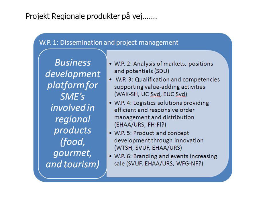 Projekt Regionale produkter på vej…….