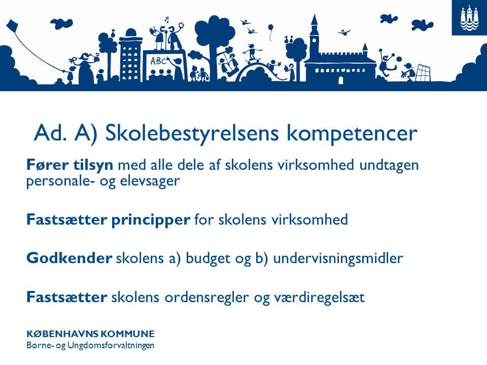 KØBENHAVNS KOMMUNE Børne- og Ungdomsforvaltningen Ad.