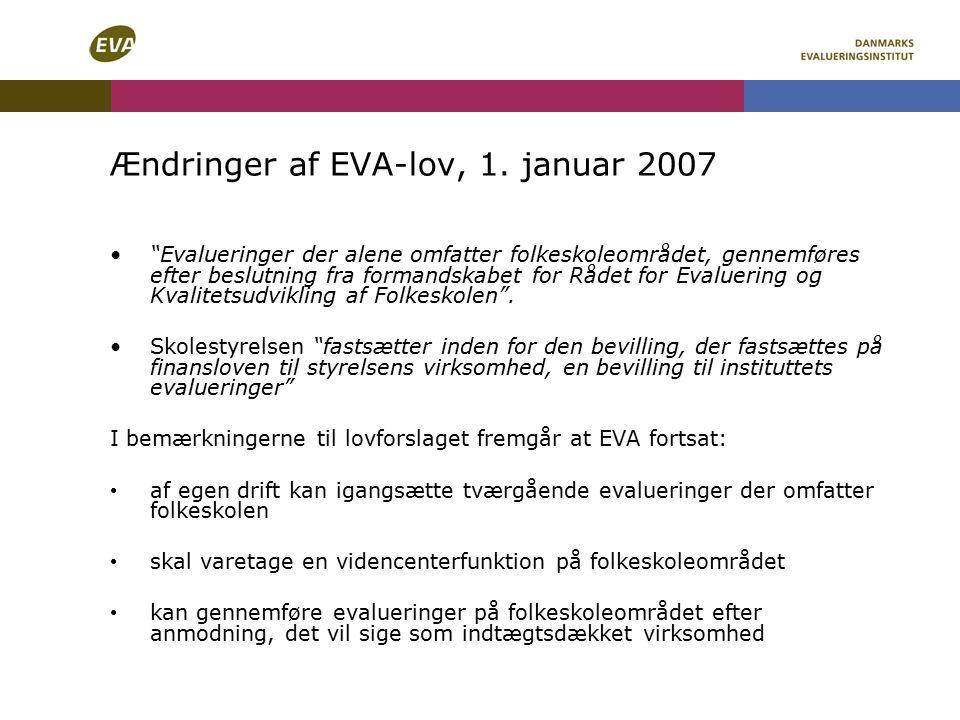 Ændringer af EVA-lov, 1.