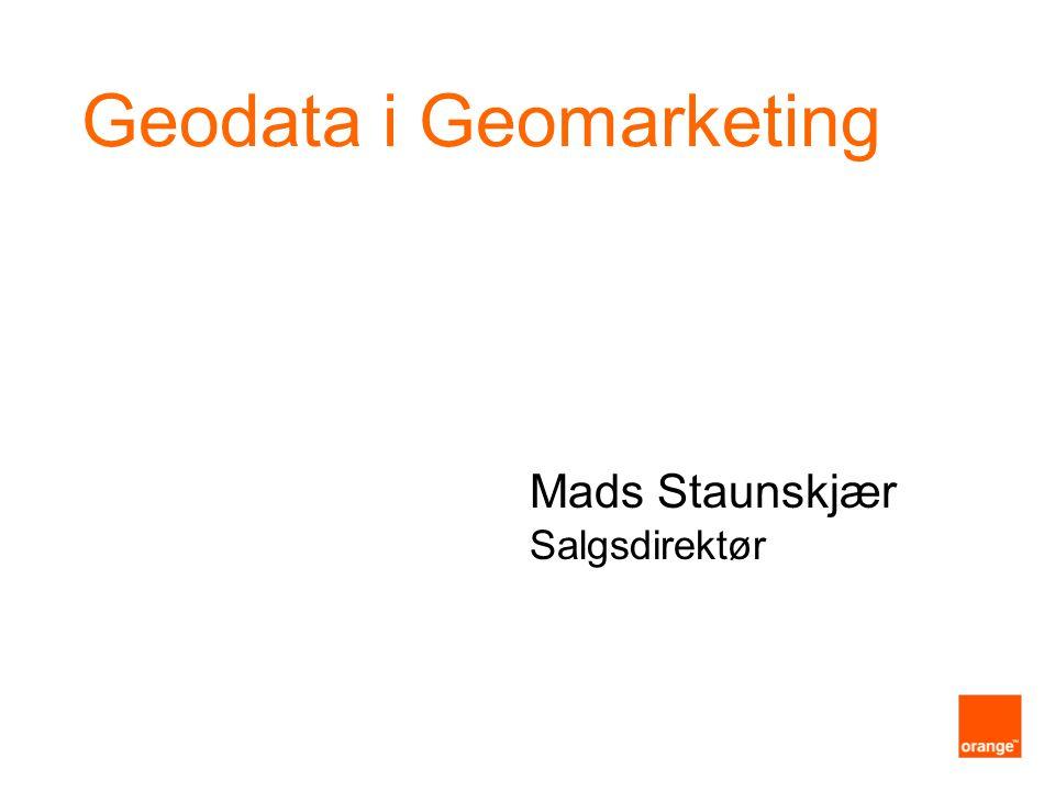 Geodata i Geomarketing Mads Staunskjær Salgsdirektør