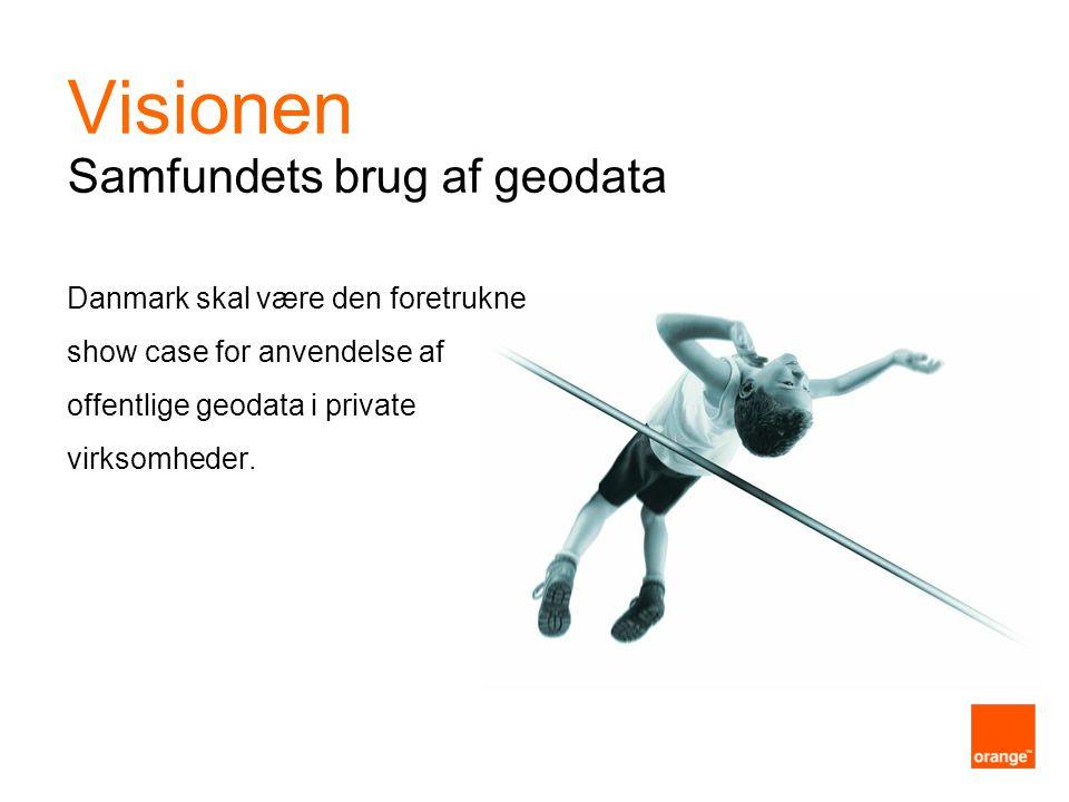 Danmark skal være den foretrukne show case for anvendelse af offentlige geodata i private virksomheder.