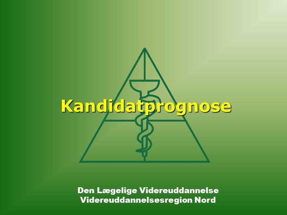 Den Lægelige Videreuddannelse Videreuddannelsesregion Nord Kandidatprognose