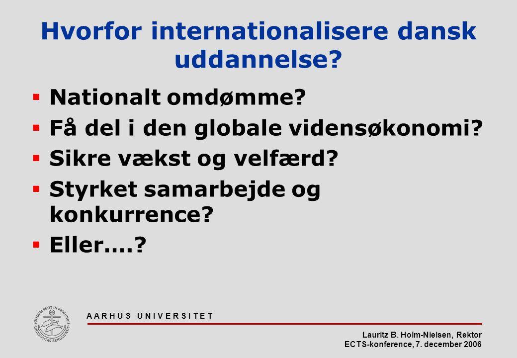 Lauritz B. Holm-Nielsen, Rektor ECTS-konference, 7.