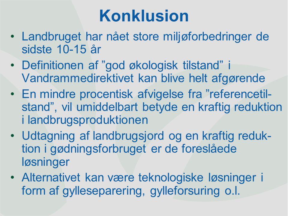 Dansk Landbrugsrådgivning Landscentret | Planteavl HusdyrartNuværende normer, kg P/ha Mulig udskillelse, kg P pr.