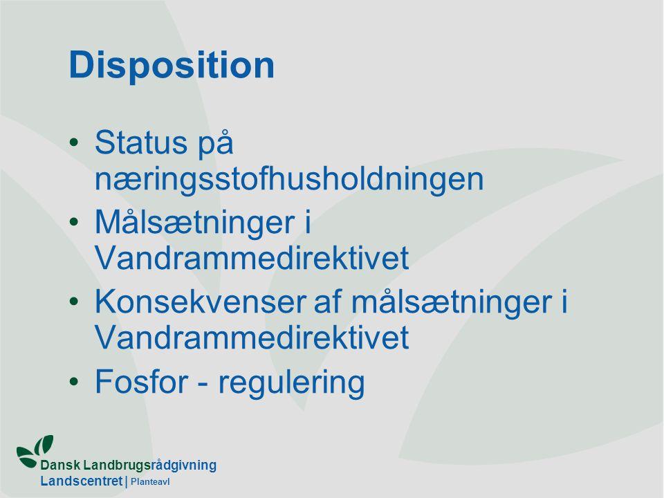 Dansk Landbrugsrådgivning Landscentret | Planteavl Konsekvenserne af yderligere regulering af landbrugets næringsstofanvendelse – Hvad kan definitioner i Vandramme- direktivet betyde for landbrugets råderum.