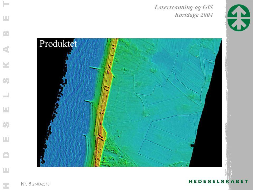 Nr. 6 27-03-2015 Laserscanning og GIS Kortdage 2004 Produktet