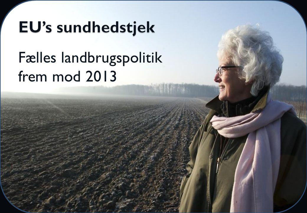 Fælles landbrugspolitik frem mod 2013