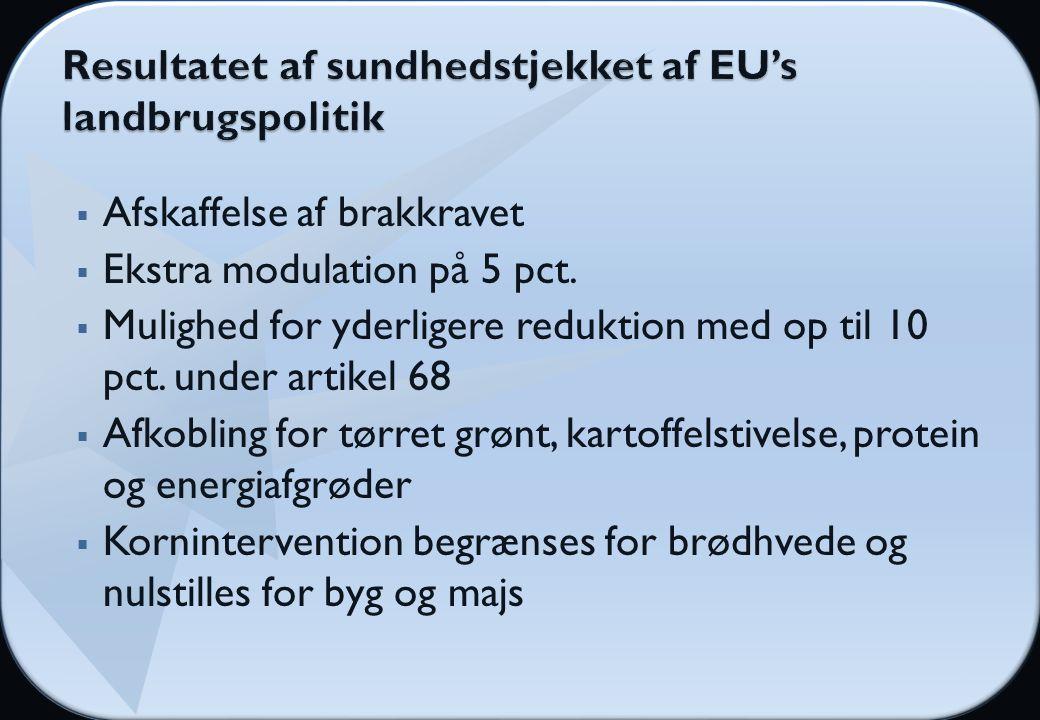  Afskaffelse af brakkravet  Ekstra modulation på 5 pct.