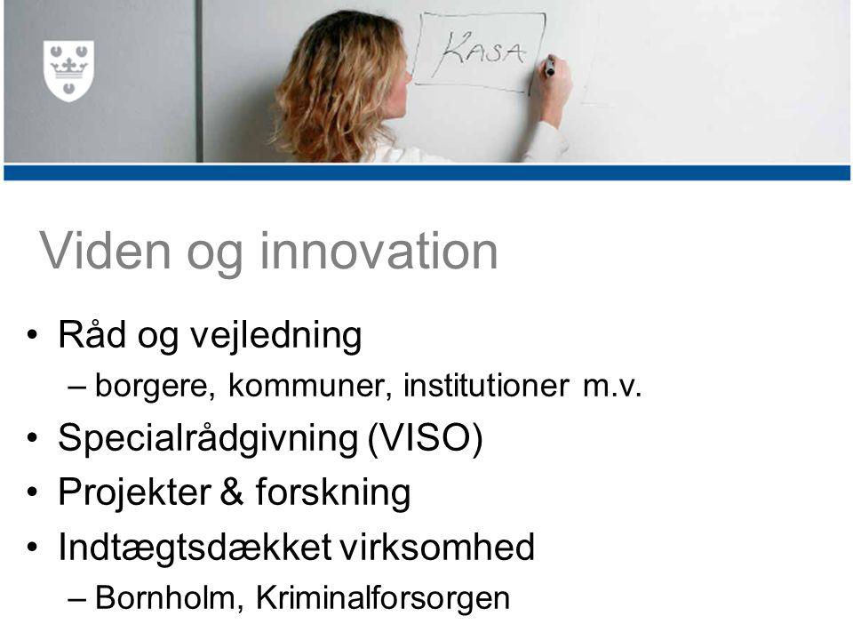 Viden og innovation Råd og vejledning –borgere, kommuner, institutioner m.v.