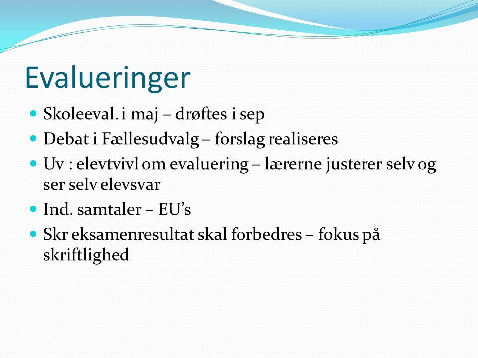 Evalueringer Skoleeval.