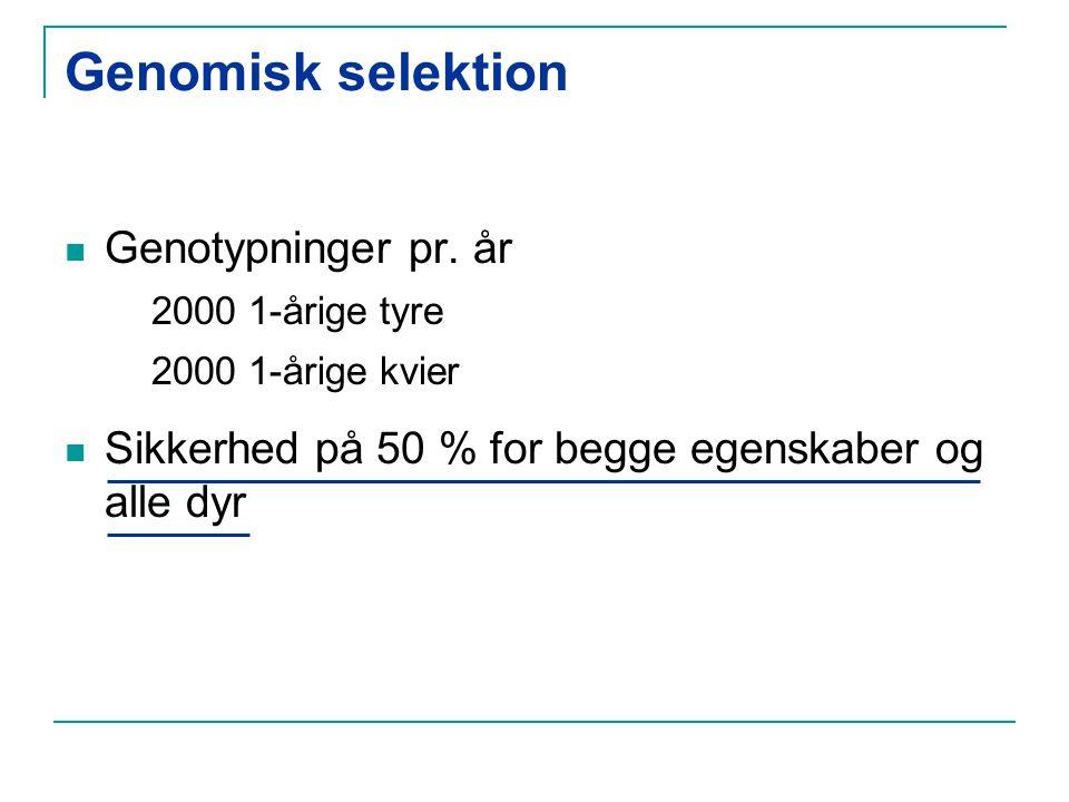 Genomisk selektion Genotypninger pr.