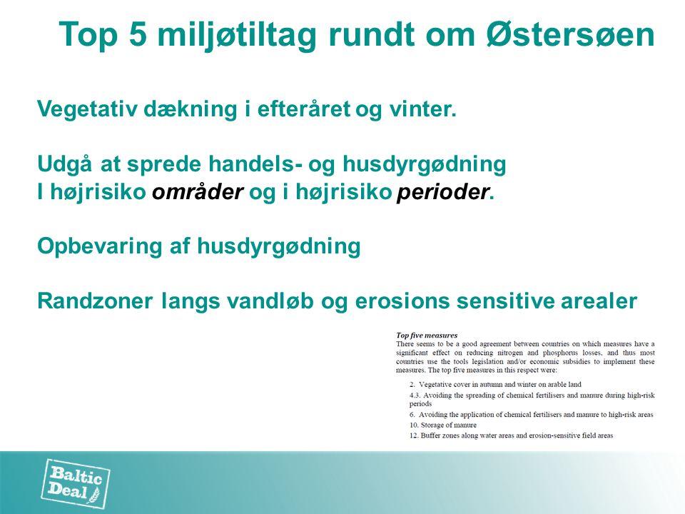Top 5 miljøtiltag rundt om Østersøen Vegetativ dækning i efteråret og vinter.